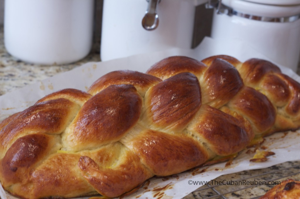 Close up of the detail on my 6-strand braided challah.