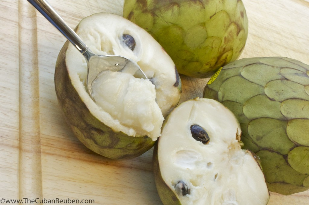 Bite of Cherimoya