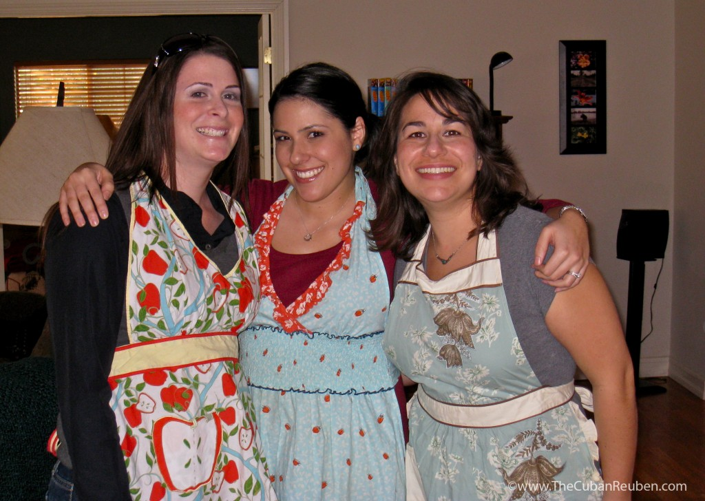 My first cooking students, Robyn A. and Lori L.