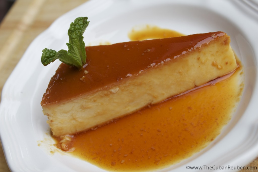 A slice of my award-winning flan.