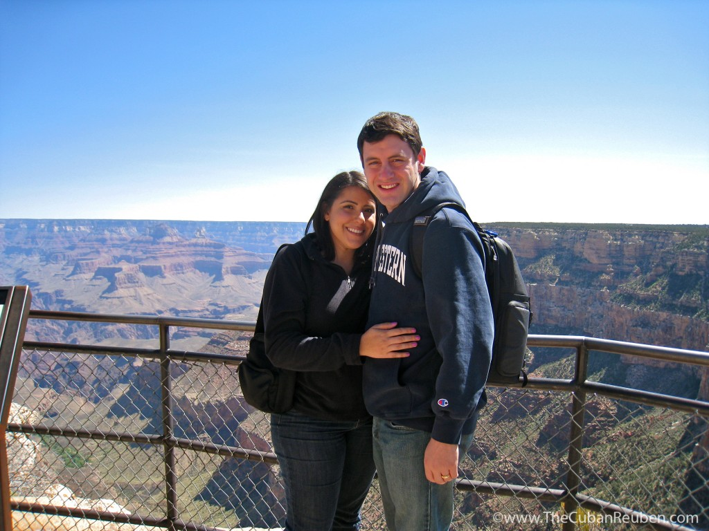 Hiking along the Grand Canyon National Park.