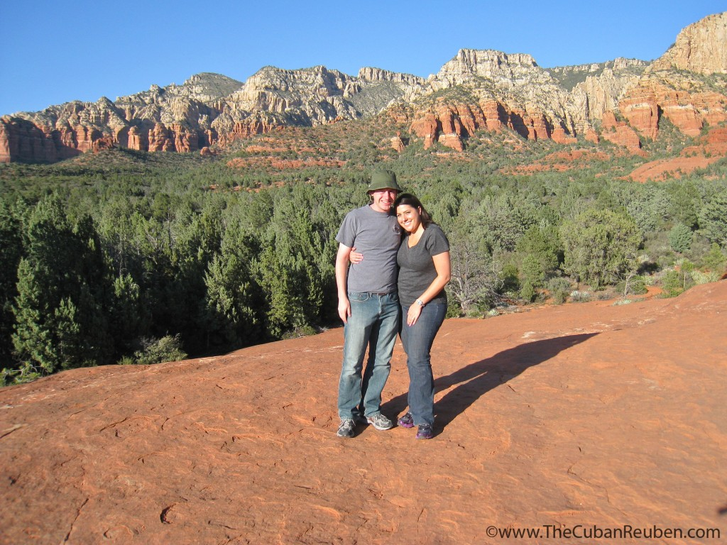 Happy to be on solid ground. Sedona, AZ