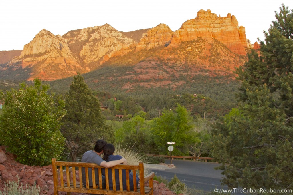 Watching the sunset in Sedona, AZ.