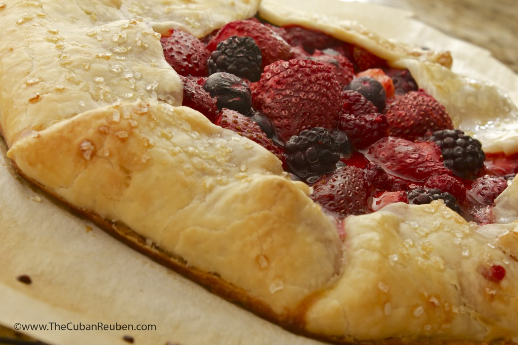Berries and cream Crostata