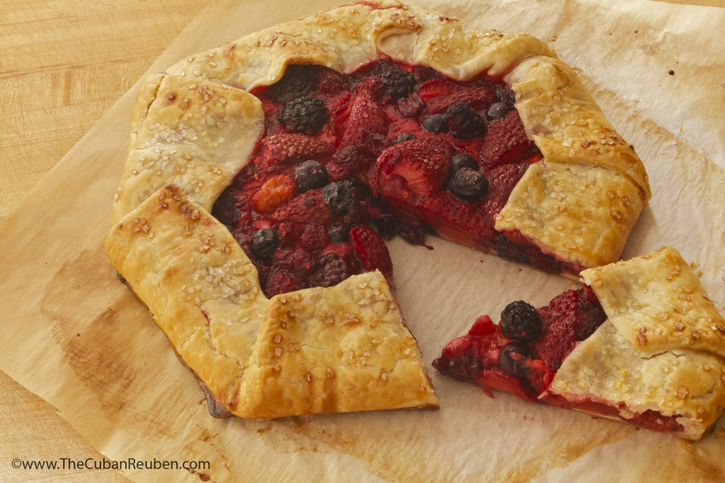 Slice of Berries and Cream Crostata