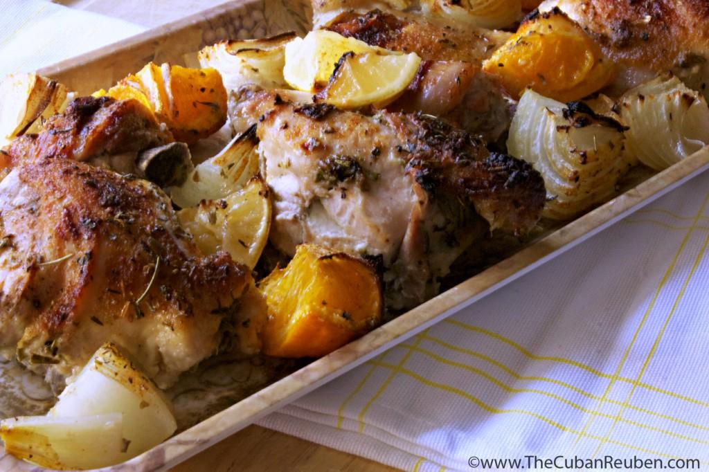 Citrus herb chicken a la jenny . TheCubanReuben.com