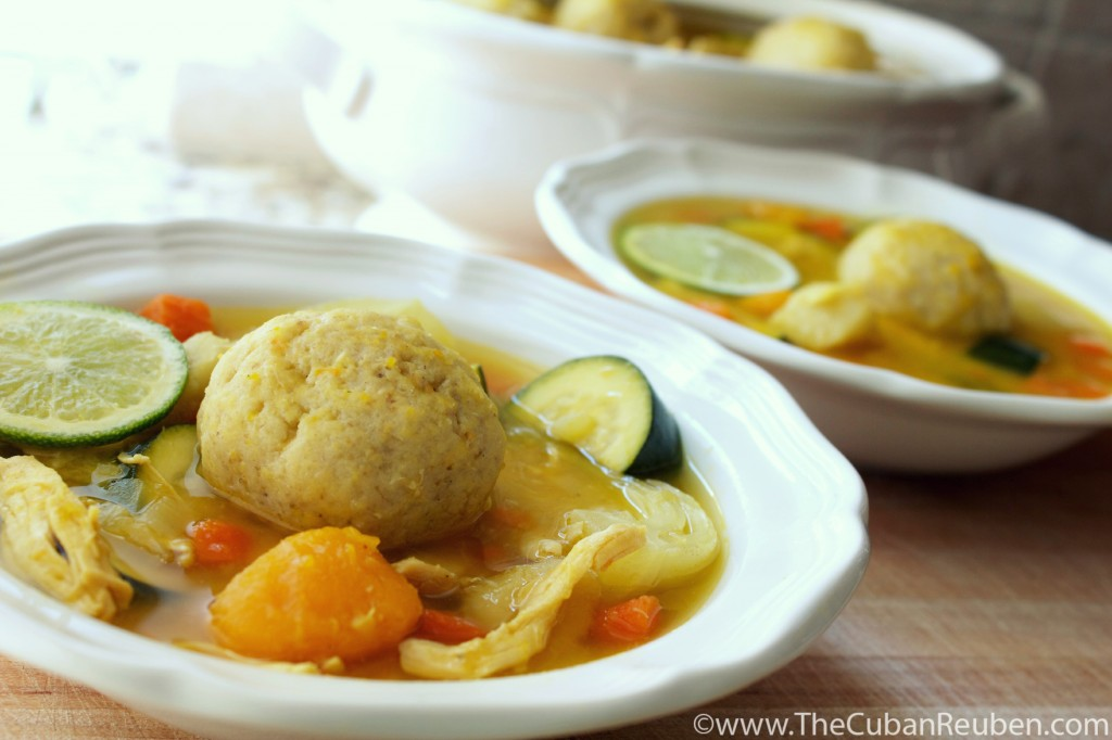 Cuban Matzoh Ball Soup marked