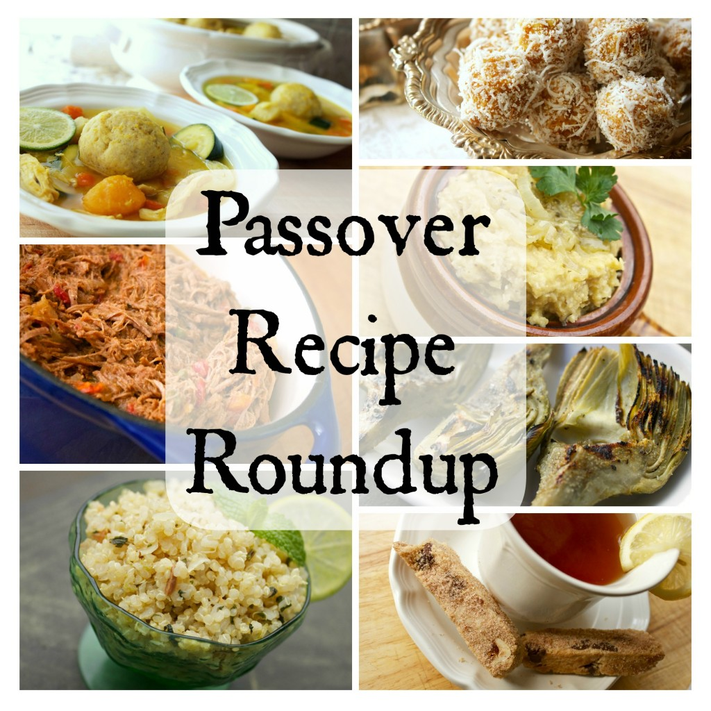 Passover recipe roundup collage