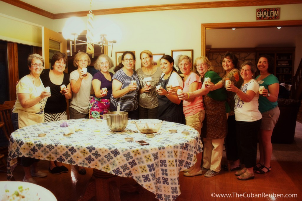 The Women of Temple Israel showing off their desserts. (Photo by Kenny Stempel)